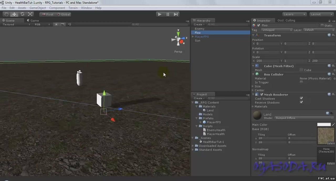 1 0 тип урока: тест-драйвцель урока: изучение основных моментов при создании простой игры в unity3d